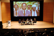 Brooklyn, New York-June 1- United States: (L-R) Rashid Shabazz, VP Communication, Campaign for Black Male Achievement, Darnell Moore, Editor-in-Chief, Interactive One, Author/Curator/Arts Educator Shantrelle P. Lewis, Abiola Oke. CEO, OkayAfrica and Ignacio Quiles, Haberdasher attend the Brooklyn Museum's Fashion Night: Modern Black Dandies celebrating the art and style in honor of Author Shantrelle P. Lewis's new book ' Dandy Lion: The Black Dandy and Street Style held at the Brooklyn Museum on June 1, 2017 in Brooklyn, New York. (Photo by Terrence Jennings/terrencejennings.com)