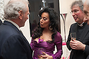 MARK SHAND; NANCY DELL D'OLIO; FATHER MICHAEL SEED, Drinks party given by Basia and Richard Briggs,  Chelsea. London. SW3. 13 February 2014.