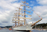 Three mast clipper ship in the UK
