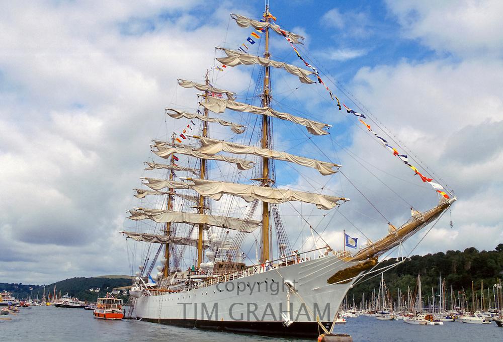 Three mast clipper ship in the UK