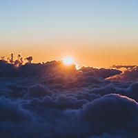 Sunset at Haleakalā National Park, Maui, Hawaii