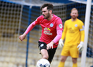 Peterborough United player Michael Smith looks to break out from defence during the Sky Bet League 1 match between Southend United and Peterborough United at Roots Hall, Southend, England on 5 September 2015. Photo by Bennett Dean.