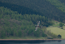 © Licensed to London News Pictures. 16/05/2013. Ladybower, UK. Flypast by Battle of Britain Memorial Flight and 2 Tornadoes of 617 Squadron to commemorate 70 years since the Dambusters raid. 617 Squadron trained for the raid here, at the Derwent Reservoirs. Photo credit : Duncan Fawkes/LNP