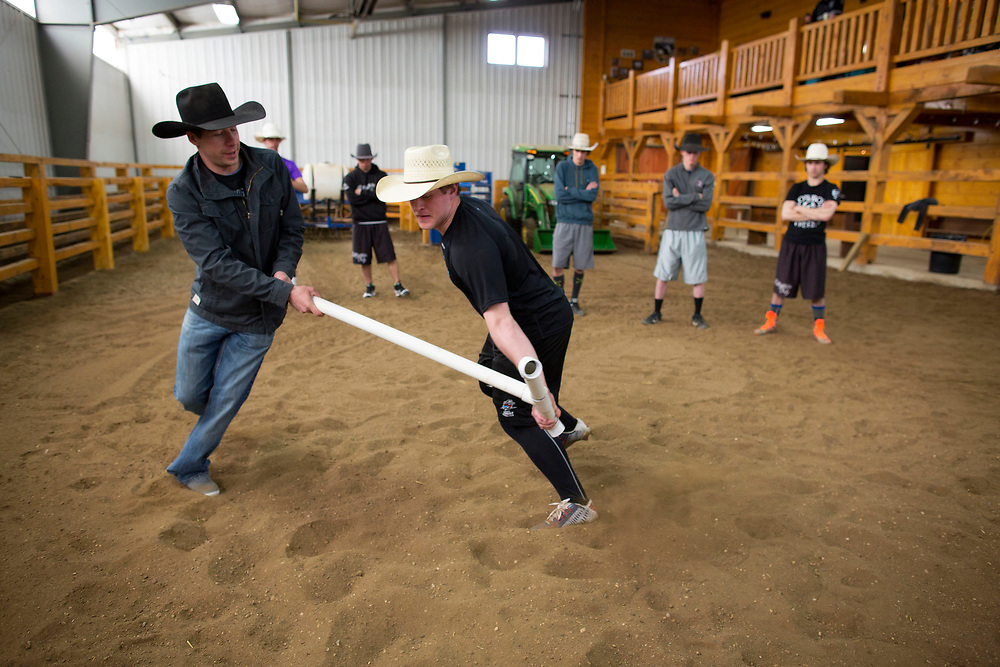 during rodeo school in Prince Albert, Saskatchewan, May 2, 2017. Photograph by Todd Korol/Globe and Mail
