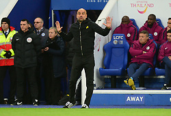 Manchester City manager Josep Guardiola - Mandatory by-line: Alex James/JMP - 18/11/2017 - FOOTBALL - King Power Stadium - Leicester, England - Leicester City v Manchester City - Premier League