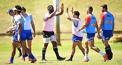 South Africa -Cape Town - 22 September 2020- DHL Stormers captain Siya Kolisi giving Herschell Jantjies a hi-five during a training session at the HPC Bellville.The Stormers are back at training after the president announced that contact sport will resume,the team from Cape Town will be taking part in the Vodacom Super Fan Saturday at Loftus Versveld in Pretoria.Picture:Phando Jikelo/African News Agency(ANA)