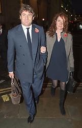 Phone Hacking Trial. <br /> Rebekah and Charlie Brooks leaving the court building,The Old Bailey, London, United Kingdom. Wednesday, 6th November 2013. Picture by  i-Images / i-Images