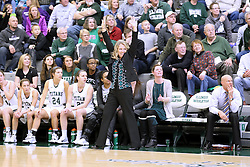 07 January 2017:  Coaches Mia Smith , Shelby Jackson, and Chad Cusac during an Wheaton Thunder and the Illinois Wesleyan Titans in Shirk Center, Bloomington IL