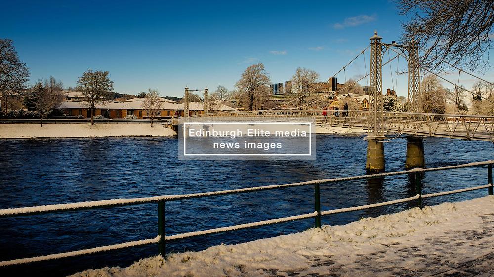 A footbridge over the River Ness in Inverness, Scotland<br /> <br /> (c) Andrew Wilson | Edinburgh Elite media