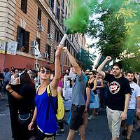 Manifestazione contro lo sgombero dell'ex fonderia Bastianelli