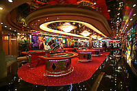 Royal Caribbean International's  Independence of the Seas, the world?s largest cruise ship. ..Interior and exterior features photos...Casino Royal *** Local Caption *** Casino Royal