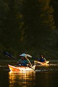 Paddling on the Missouri River, Montana.