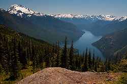 Ross Lake and Snowy Peaks from Desolation Peak Trail, North Cascades National Park, Washington, US