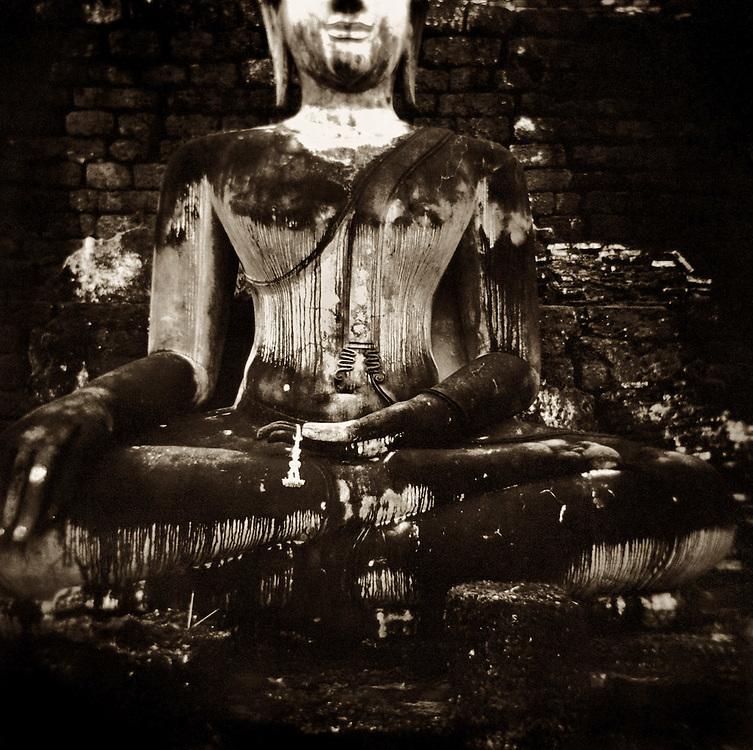 Buddha in the Rain - Wat Mahathat - Sukothai, Thailand