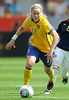 Fotball<br /> VM kvinner 2011 Tyskland<br /> 28.06.2011<br /> Sverige v Colombia<br /> Foto: Witters/Digitalsport<br /> NORWAY ONLY<br /> <br /> Lisa Dahlkvist (Schweden)<br /> Frauenfussball WM 2011 in Deutschland, Kolumbien - Schweden 0:1