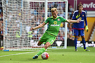 Sebastian Larsson of Sunderland in action. Barclays Premier League match, Aston Villa v Sunderland at Villa Park in Birmingham, Midlands on Saturday 29th August  2015.<br /> pic by Andrew Orchard, Andrew Orchard sports photography.