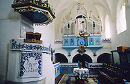 Inside of a Saxon Unesco World Heritage Church at Dariju ( Szekelyderz ) Transylvania, Romania .<br /> <br /> Visit our ROMANIA HISTORIC PLACXES PHOTO COLLECTIONS for more photos to download or buy as wall art prints https://funkystock.photoshelter.com/gallery-collection/Pictures-Images-of-Romania-Photos-of-Romanian-Historic-Landmark-Sites/C00001TITiQwAdS8<br /> .<br /> Visit our MEDIEVAL PHOTO COLLECTIONS for more   photos  to download or buy as prints https://funkystock.photoshelter.com/gallery-collection/Medieval-Middle-Ages-Historic-Places-Arcaeological-Sites-Pictures-Images-of/C0000B5ZA54_WD0s