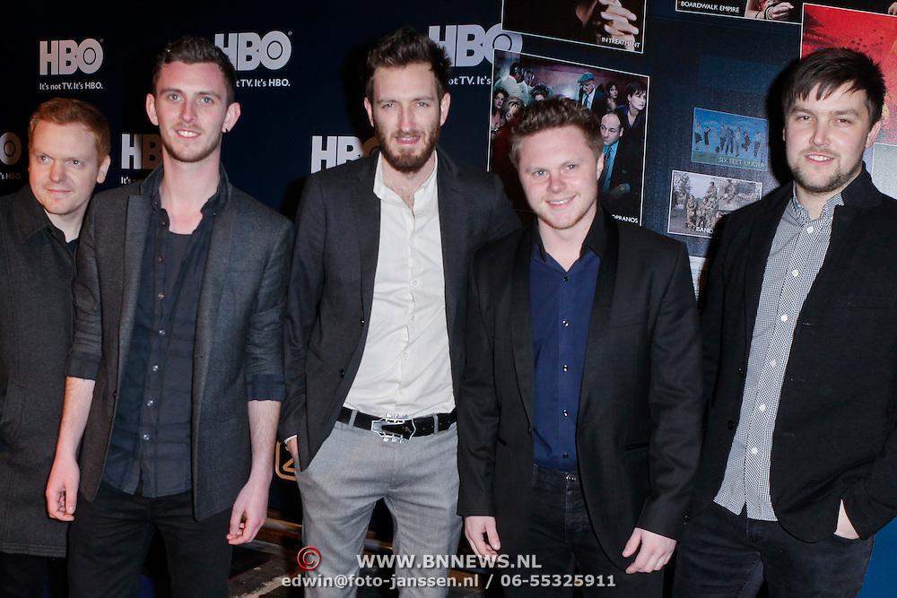 NLD/Amsterdam/20120208 - Start HBO tv in Nederland, band Morning Parade
