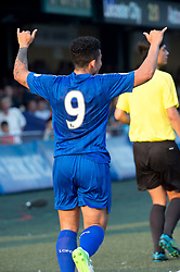 May 28, 2017 - Hong Kong, Hong Kong SAR, China - Joshua Gordon scores Leicester city's first goal.Leicester City win their second HKFC Citi Soccer Sevens title following a 3-0 victory over defending champions Aston Villa in the final.2017 Hong Kong Soccer Sevens at the Hong Kong Football Club Causeway Bay. (Credit Image: © Jayne Russell via ZUMA Wire)