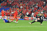 Football - 2022 FIFA World Cup - European Qualifying - Group E - Wales vs Estonia - Cardiff City Stadium - Wednesday 8th September 2021<br /> <br /> Tyler Roberts Wales shoots at goal<br /> <br /> COLORSPORT/WINSTON BYNORTH