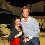 NLD/Aalsmeer/20070601 - Uitzending van de BNN grote  Donorschow, een van de bedenkers van de show, Sebastiaan Spaan en Judith