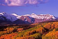 West Elk Mountains during the autumn season, Colorado.