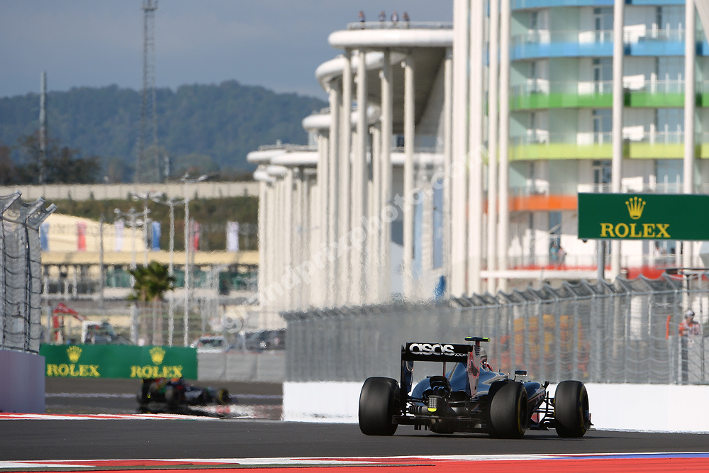 Kevin Magnussen (McLaren-Mercedes) seen from behind during practice for the 2014 Russian Grand Prix in Sochi Photo: Grand Prix Photo