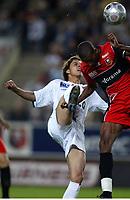Fotball<br /> Frankrike 2004/05<br /> Rennes v Lyon<br /> 11. september 2004<br /> Foto: Digitalsport<br /> NORWAY ONLY<br /> NILMAR (LYON) / ABDESLAM OUADDOU (REN)