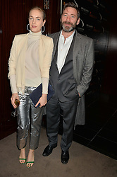 POLLY MORGAN and MATT COLLISHAW at a dinner hosted by Liberatum to honour Francis Ford Coppola held at the Bulgari Hotel & Residences, 171 Knightsbridge, London on 17th November 2014.