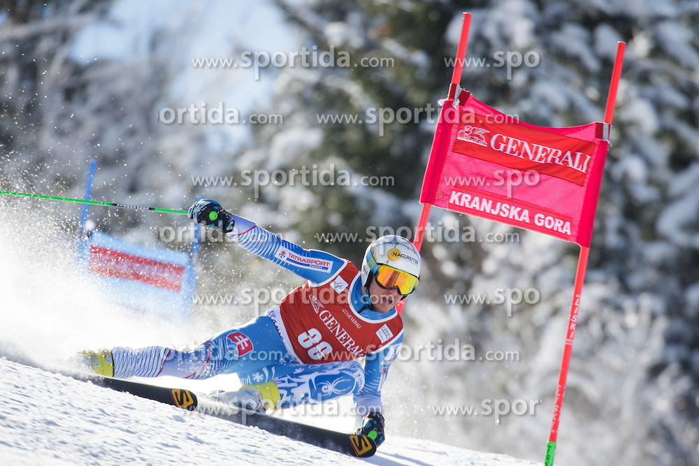 Adam Zampa (SVK) competes in 1st Run during Men Giant Slalom race of FIS Alpine Ski World Cup 55th Vitranc Cup 2015, on March 4, 2016 in Kranjska Gora, Slovenia. Photo by Ziga Zupan / Sportida