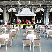 Venice August 20 A general view of the Florian Cafe. A group of Italian tourists were horrified to be charged the equivalent of £85 for four espresso coffees laced with liqueurs in the very central Saint Mark's Square in  Venice.