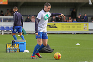 AFC Wimbledon midfielder Anthony Hartigan (8) warming up during the EFL Sky Bet League 1 match between AFC Wimbledon and Doncaster Rovers at the Cherry Red Records Stadium, Kingston, England on 9 March 2019.
