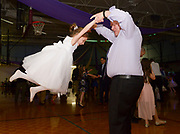 Nick Jones dances with his daughter Chloe, 7, at the Father Daughter Dance at the Franklin Recreation Complex on Saturday, Jan. 27, 2018.