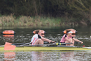 Caversham. Berkshire. UK<br /> Women's pair, Bow Fiona GAMMOND and Katherine DOUGLAS, competing in the  2016 GBRowing U23 Trials at the GBRowing Training base near Reading, Berkshire.<br /> <br /> Monday  11/04/2016 <br /> <br /> [Mandatory Credit; Peter SPURRIER/Intersport-images]