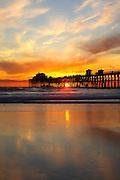 Oceanside Municipal Pier at Sunset
