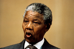 Deputy President of the African National Congress (ANC) Nelson Mandela during a conference in Geneva today