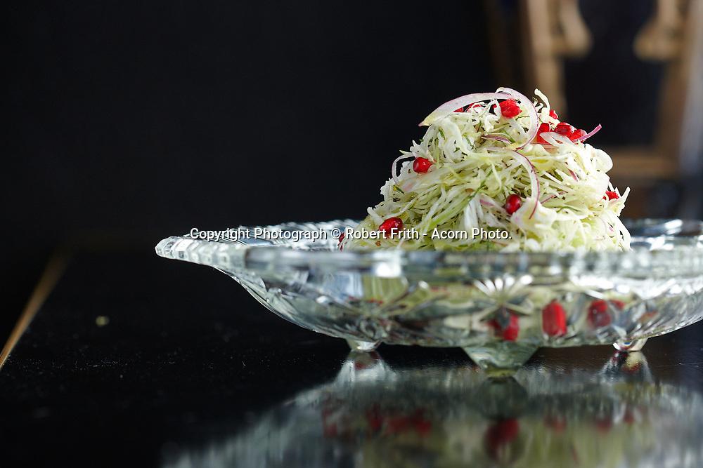 Fennel, cabbage pomegranate & mint salad<br /> Pata Negra Restaurant Perth Region