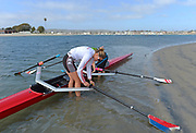 """San Diego, California. USA.  USA Double Olympian Gold Medalist,  Zsuzsanna """"Susan"""" FRANCIA, in  her role as  Women's Varsity coach at the San Diego Rowing Club. Mission Bay.  15:29:12.  Thursday  11/04/2013   [Mandatory Credit. Peter Spurrier/Intersport Images]"""