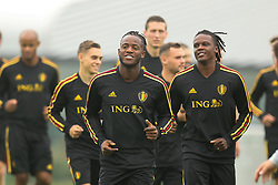 September 5, 2018 - Tubize, BELGIUM - Belgium's Michy Batshuayi and Belgium's Dedryck Boyata pictured during a training session of Belgian national soccer team the Red Devils in Tubize, Wednesday 05 September 2018. The team is preparing for a friendly match against Scotland on 07 September and the UEFA Nations League match against Iceland on 11 September. BELGA PHOTO BRUNO FAHY (Credit Image: © Bruno Fahy/Belga via ZUMA Press)