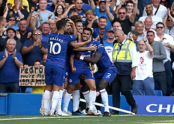 Chelsea's Pedro celebrates scoring his side's first goal of the game