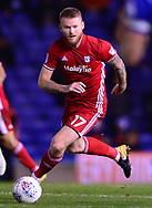 Aaron Gunnarsson of Cardiff City in action .EFL Skybet championship match, Birmingham city v Cardiff city at St.Andrew's stadium in Birmingham, the Midlands on Friday 13th October 2017.<br /> pic by Bradley Collyer, Andrew Orchard sports photography.