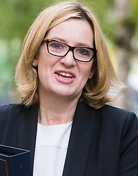 Downing Street, London, October 18th 2016. Home Secretary Amber Rudd arrives at the weekly cabinet meeting at 10 Downing Street in London.