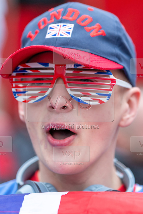A Brexit supporter celebrate in London, Friday, Jan. 31, 2020. Britain officially leaves the European Union on Friday after a debilitating political period that has bitterly divided the nation since the 2016 Brexit referendum. (Photo/Vudi Xhymshiti) celebrate in London, Friday, Jan. 31, 2020. Britain officially leaves the European Union on Friday after a debilitating political period that has bitterly divided the nation since the 2016 Brexit referendum. (Photo/Vudi Xhymshiti)