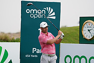 Jean-Baptiste Gonnet (FRA) on the 1st during Round 1 of the Oman Open 2020 at the Al Mouj Golf Club, Muscat, Oman . 27/02/2020<br /> Picture: Golffile | Thos Caffrey<br /> <br /> <br /> All photo usage must carry mandatory copyright credit (© Golffile | Thos Caffrey)
