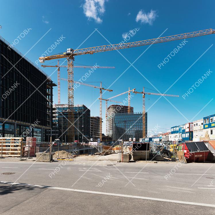 Costruction area for a new neighborhood in Wien