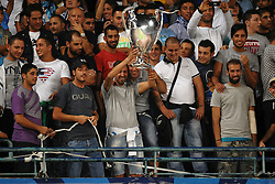 27.09.2011, Stadio San Paolo, Neapel, ITA, UEFA CL, Gruppe A, SSC Neapel vs FC Villarreal, im Bild Tifosi del Napoli con la coppa // during the UEFA Champions League game, group B, SSC Neapel (ITA) vs FC Villarreal (ESP) at San Paolo stadium in Neapel, Italy on 2011/09/27. EXPA Pictures © 2011, PhotoCredit: EXPA/ InsideFoto/ Andrea Staccioli +++++ ATTENTION - FOR AUSTRIA/(AUT), SLOVENIA/(SLO), SERBIA/(SRB), CROATIA/(CRO), SWISS/(SUI) and SWEDEN/(SWE) CLIENT ONLY +++++