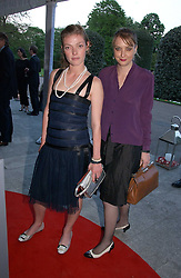Left to right, actress CAMILLA RUTHERFORD and DAISY DE VILLENEUVE at a party to celebrate the opening of Roger Vivier in London held at The Orangery, Kensington Palace, London on 10th May 2006.<br /><br />NON EXCLUSIVE - WORLD RIGHTS