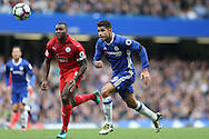 Diego Costa of Chelsea in action. Premier league match, Chelsea v Leicester city at Stamford Bridge in London on Saturday 15th October 2016.<br /> pic by John Patrick Fletcher, Andrew Orchard sports photography.