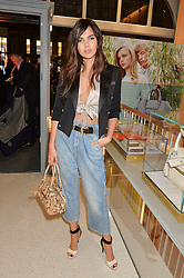 DOINA CIOBANU at the launch of the new J&M Davidson flagship shop at 104 Mount Street, London on 3rd February 2016.