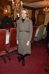 GRETA BELLAMACINA at a lunch hosted by Fortnum & Mason, Piccadilly, London on 29th January 2015 in honour of Marco Pierre White and the publication of White Heat 25.